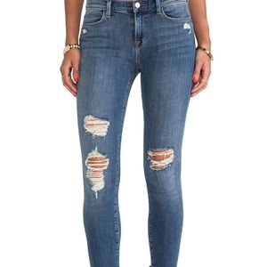 Cropped Mid Rise Skinny Destroyed in Fury Size 29